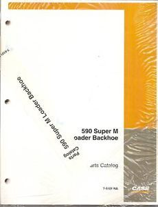 Case 590 Super M Loader Backhoe Parts Manual