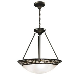 Dale Tiffany Cyprus Oaks 3 Light Inverted Pendant