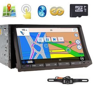 "HD 7"" in Dash 2 DIN Car Stereo DVD Player GPS Navigation iPod Bluetooth Camera"