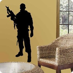 US Army Marine Soldier Wall Decor Vinyl Decal Sticker
