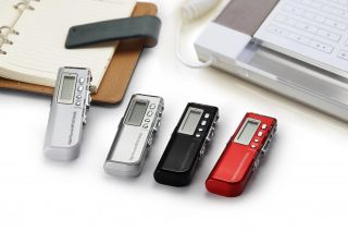 4 Color Choose Rechargeable 8GB Voice Activated USB Digital Voice Recorder