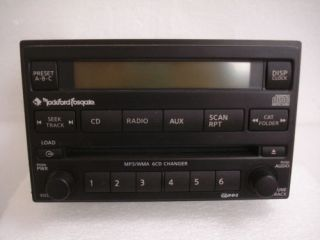 Nissan Xterra Frontier Rockford Fosgate Radio 6 Disc Changer  CD Player Aux