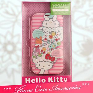 P77 Cute Hello Kitty Cell Phone Case Cover for Samsung Galaxy S4 I9500