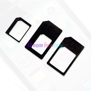 3 Adapter Nano Sim to Micro Sim Nano Sim to Sim Card Adapter for iPhone 5 4S 4