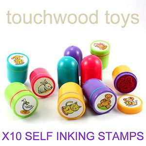 Childrens Stamps Self Inking Stamps Animal Ink Stamps Ink Pads Party Bag Fillers