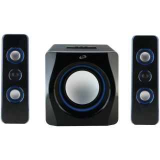 iLive IHB23B Wireless Bluetooth Speaker System 2 1 Channel w Blue LED Light EFX