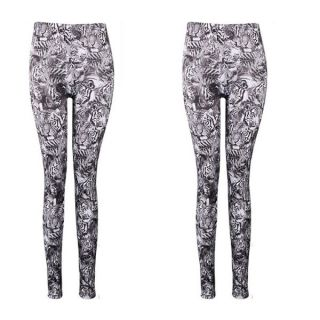 Women Multicolored Printed and Galaxy Printed Stretch Tights Sexy Leggings Pant
