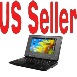 "Black 7"" Mini Netbook Laptop Notebook WiFi Android 2 2 Via WM8650 Notebook USA"