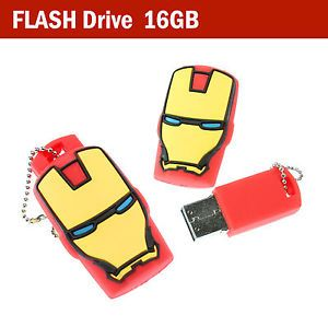 16GB Super Hero Cartoon Figure USB Flash Drive Memory Stick Pen Drive Box
