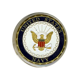 United States Navy Gold Silver Poker Card Guard