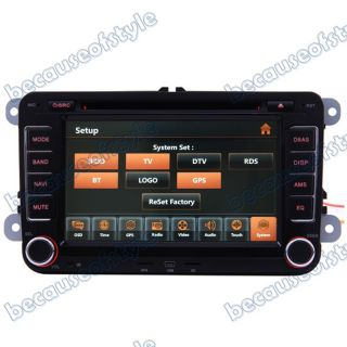05 12 VW Jetta Car GPS Navigation Radio TV Bluetooth USB  Aux iPod DVD Player