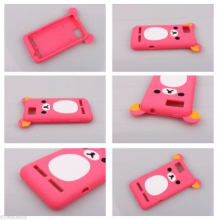 Lovely Cute Teddy Bear Silicone Soft Cover Case for Motorola Motoluxe XT615
