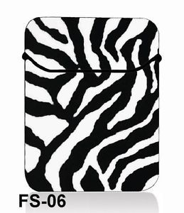 "13"" 13.3"" inch Zebra Print Neoprene Laptop Bag Sleeve Case Netbook Cover Pouch"