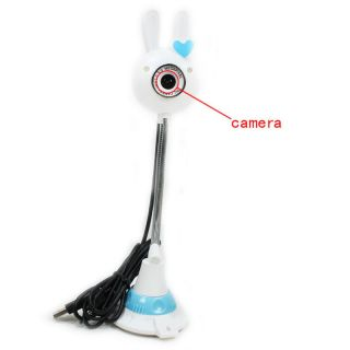 5MP Cute Rabbit Shaped USB PC Webcam Web Camera with Mic for PC Laptop Desktop