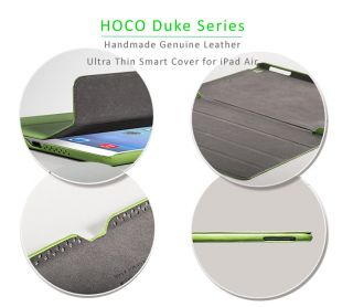 Hoco Genuine Real Leather Cases Smart Covers for iPad Air Auto Sleep Awake