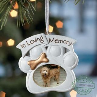 New Loving Memory Dog Memorial Christmas Ornament Photo