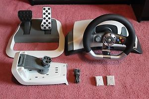 Details about Microsoft Xbox 360 Wireless Racing Steering Wheel
