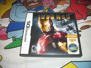 Iron Man Nintendo DS Lite Case Only No Game Ironman