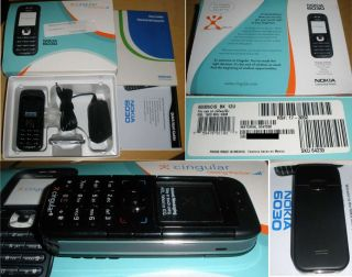 Brand New in Box Nokia 6030 at T Cingular Cell Phone Black 6030B GSM Look