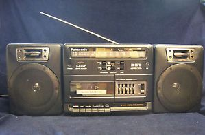 Panasonic Boom Box Vintage RX CS710 FM Am Radio Cassette Player EQ RCA Input