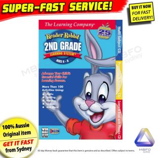 New Reader Rabbit 2nd Grade for PC Windows 7 Kids Reading Computer Game Software