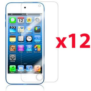 12x Clear Reusable LCD Screen Protector Cover Guard for iPod Touch 5 5th Gen 5g