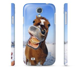 Funny Face Horse Hard Cover Case for iPhone Android 65 Other Phones