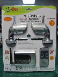 Wireless Color Security Camera System with Nightvision and Audio