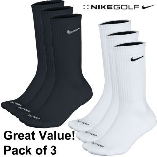 Great Value 2013 Nike Dri Fit Crew Golf Socks Pack of 3