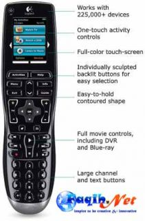 Logitech Harmony One Programable Univeral Remote Control Color Touch Screen USB