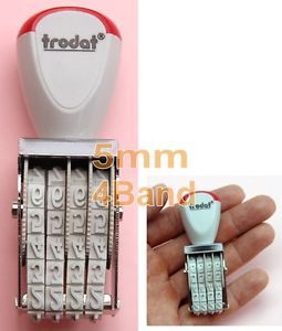 5mm 0 5cm 4 Band Number No 1 2 3 4 5 6 7 8 9 0 Rubber Small Stamp Ink Pad Office
