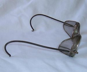 Vintage AO Biker Motorcycle Safety Glasses Antique Steampunk Goggles