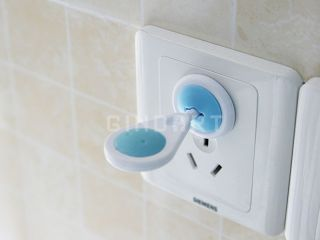 New 6 Pcs Two Round Pin Baby Child Safety Security Lock Electric Socket Cover