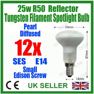 12x 25W R50 Reflector Spot Light Lava Lamp Bulb E14 Ses