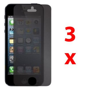 3 Privacy Anti Spy LCD Screen Protector Guard Shield Film for Apple iPhone 5 5g