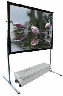 Elite Screens Quickstand Portable Folding Projection Screen 4 3 Aspect Ratio 84