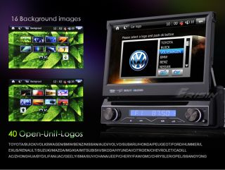 "ES788US 7"" TFT HD Touch Screen 1 DIN Car DVD Player GPS iPod TV"