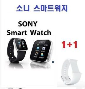 Sony Bluetooth Smartwatch for Android Smartphones Cell Phones White Band 1pcs