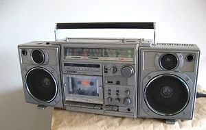 Vintage Sanyo M9996K Boom Box Ghetto Blaster Radio Cassette Player