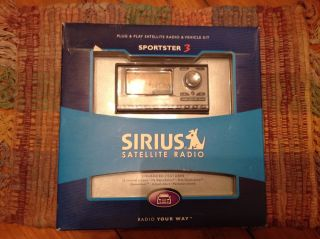Sirius Satellite Radio Sportster 3 Plug Play Satellite Radio Vehicle Kit
