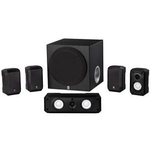 Yamaha 5 1 Channel Home Theater Speaker System w Surround Sound Wall Mountable