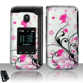 Pink Flowers Hard Case Cover Samsung Zeal Accessory
