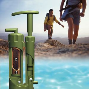 Mini Portable Army Soldier Emergency Cartridge Water Filter Purifier for Hiking