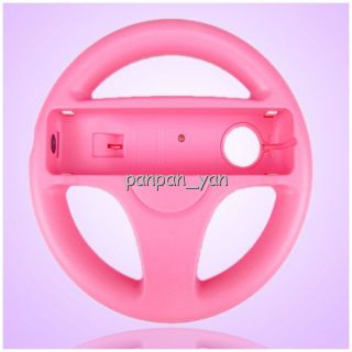 1x Pink Wii Steering Wheel for Nintendo Wii Remote Mario Kart Racing Game