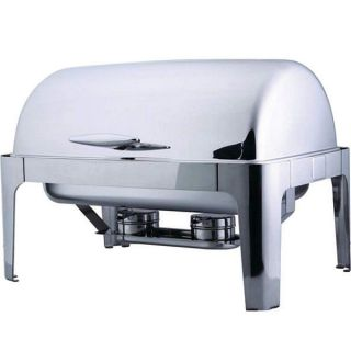 Stainless Steel Commercial Chafing Dish Buffet Tray Server Food Warmer Roll Top