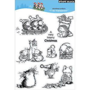 Penny Black Rubber Stamps Clear Christmas Critters Stamp Set