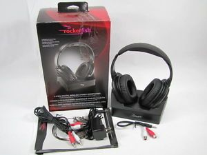 New Rocketfish RF WHP212 Wireless Stereo Headphones Over Ear Headset Top Line