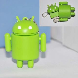 64GB Green Gooogle Android Robot USB2 0 Flash Memory Stick Pen Drive