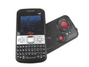 New Unlocked Quad Band Mobile TV Dual Sim QWERTY Keyboard Cell Phone Q5 Black