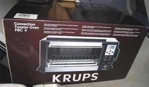 Krups FBC4 Convection Toaster Oven 1600 Watt Stainless Steel New in Box
